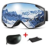 Extra Mile Ski Goggles, 2020 New Anti Fog & OTG Snowboard Snowmobile Goggles for Men Women and Youth - 100% UV400 Protection