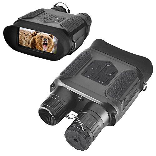 Landove, Binocolo per visione notturna per caccia, 7x 31con schermo LCD TFT HD da 2, camera a infrarossi IR e videocamera, visione fino a 400m, scatta foto da 5MP e gira video a 640 pixel