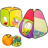 TecTake Tente de Jeux pour Enfants | Pop Up Tente | INCL. 200 balles + Sac |...
