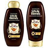 Garnier Hair Care Whole Blends Ginger Recovery Strengthening Shampoo and Conditioner with Ginger and Golden Honey Extracts, For Weak, Brittle Hair, Paraben Free 44 Fl Oz