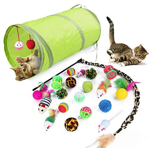 WeFine per Gatti, 21 pezzi Gatto Giocattoli Interattivi gioco per gattino kitten indoor