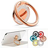 Cell Phone Ring Holder Finger Kickstand, Allengel Bling Metal Finger Ring Stand for Magnetic Car Mount Compatible with iPhone11 X XS Pro Max, LG, Samsung S20/S10/S9/S8-Rose Gold