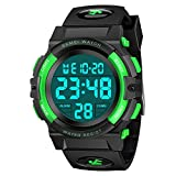 Kids Watch Toys for 6-15 Year Old Boys, ATOPDREAM LED 50M Waterproof Digital Watches Gifts for Teen Boys Outdoor Toys for 7-8 Year Old Teenage Boys Girls 8-15 Year Old Outdoor Toys Green