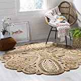 Safavieh Natural Fiber Collection NF360A Hand-woven Jute Area Rug, 5' x 5' Round