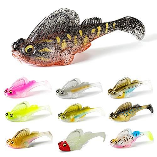Leeko, set di esche da pesca per luccio, luccio, pesce in gomma, esche da pesca per luccio, trota, luccioperca e persico