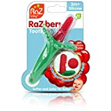 RaZberry Baby Teether & Toothbrush/BerryBumps Soothe and Massage Sore Gums/Perfectly Sized