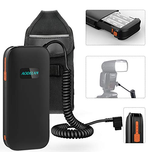 External Flash Battery Hot-Shoe Flash Battery Pack for Speedlite Canon 600EX, 600EX-RT, 600EX II-RT, 550EX, 580EX, 580EXII, MR-14EX, MR -24EX. Replaces Canon CP-E4N, CP-E4