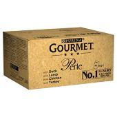 Purina Gourmet perle Wet Cat food, mini filetti in salsa, Confezione da 4 gusti- 96 buste x 85g
