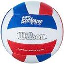 Wilson, Palla da pallavolo, Super Soft Play, Bianco/Rosso/Blu, Pelle sintetica, Dimensioni ufficiali, Indoor e Outdoor, WTH90219XB