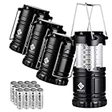 Etekcity Lantern Camping Lantern Battery Powered Lights for Power Outages, Home Emergency, Camping, Hiking, Hurricane, A Must Have Camping Accessories, Portable and Lightweight, Batteries Included