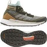 adidas Women's Terrex Free Hiker Blue Hiking Boot, Feather Grey/Alumina/Green Tint, 8 B (M)