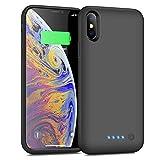 iPhoneX/XS/10 対応 バッテリーケース 6500mAh バッテリー内蔵ケース 軽量 大容量 充電ケース ……