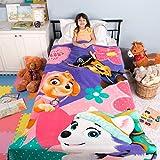 Franco Kids Bedding Super Soft Plush Blanket, Twin/Full Size 62' x 90', Paw Patrol Pink/Purple