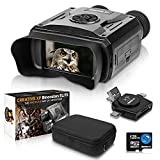 CREATIVE XP Digital Night Vision Binoculars for Adults – Infrared Night Vision Goggles for Hunting, Spy, Military and Tactical - True IR Illuminator for 100% Darkness – QHD+ Photos & Videos – 128GB