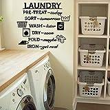 Etiqueta de la pared del vinilo del lavadero Arte del vinilo del hierro plegable seco lavable
