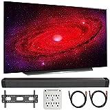 LG OLED55CXPUA 55' CX 4K OLED TV w/AI ThinQ (2020) with Deco Gear Soundbar Bundle