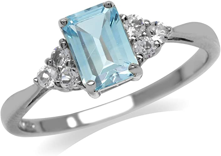 baby blue ring stone unique jewelry findings