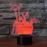 Lámpara de mesa USB con luz de noche LED 3D como regalo, regalo de ventilador de animación para niños, regalo de vacaciones, decoración, lámpara de mesa