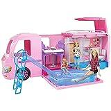 Barbie Mobilier Camping-Car Transformable pour poupées, véhicule de +60 cm...