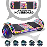 Beston Sports Newest Generation Electric Hoverboard Dual Motors Two Wheels Hoover Board Smart self Balancing Scooter with Built in Speaker LED Lights for Adults Kids Gift (-Image 4)