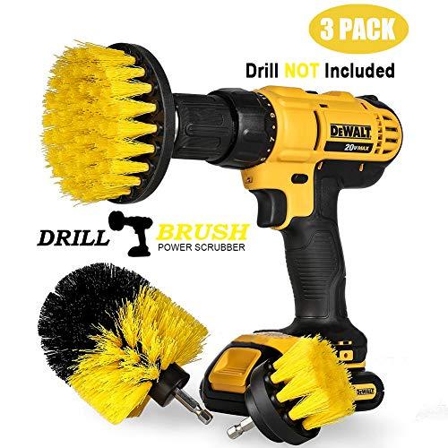 """Swonuk 3pcs Drill Brush, Bohrmaschine Bürstenaufsatz 2\""""3\"""" 4\"""" Power Scrubbing Auto Bürste für Auto, Teppich, Badezimmer, Holzboden, Waschküche,Küche"""