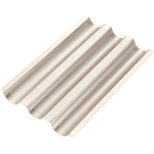 CHEFMADE Perforated Baguette Pan, 15-Inch 3...