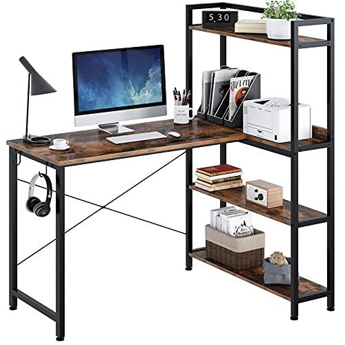 Rolanstar Computer Desk with Storage Shelves 47', Home Office Desk...