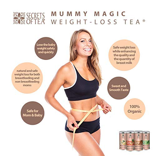 Mummy Magic Weight Loss Tea - Fruit Tea with 40 Servings - Energy Tea Naturally Increase Digestion.Postpartum Tea for Metabolism & Digestion. 4