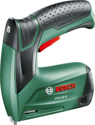 Bosch Home and Garden 603968100 PTK 3 6 LI Graffatrice a Batteria, 3.6 V, Verde
