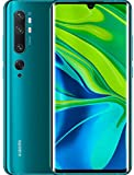 "Xiaomi Mi Note 10 Smartphone, 6 GB RAM + 128 GB ROM, Schermo 3D Curved Amoled 6.47"", Penta Camera 108 MP,  Selfie camera da 32 MP, 5260 mAh, Aurora Green"