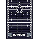 'Dallas Cowboys Collection' Printed Plastic Table Cover for Party