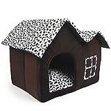 Pet Supplies Niche double haut de gamme pour chien Marron 55 x 40...