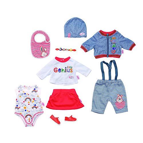 Baby Born 43cm Deluxe Super Mix&MatchSet-Juego de Accesorios para bebé (43 cm), Color Azul, Blanco, Rojo (Zapf Creation 826928)