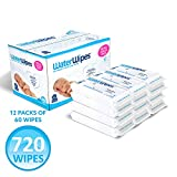 WaterWipes Unscented Baby Wipes, Sensitive and Newborn Skin, 12 Packs (720 Wipes)