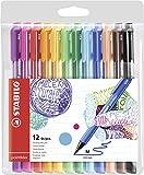 Stylo feutre - STABILO pointMax - Pochette de 12 stylos-feutres pointe moyenne...