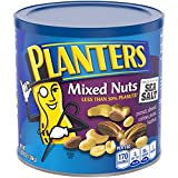 PLANTERS Mixed Nuts, 56 oz. Resealable Container | Roasted Nuts: Less Than 50% PeanutsNuts are Measured by Weight), Almonds, Cashews, Hazelnuts & Pecans | Kosher