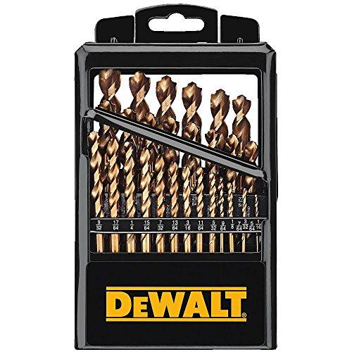 DEWALT Drill Bit Set, Pilot Point, Cobalt, 29-Piece...