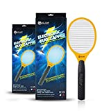 ALAM Electric Bug Zapper Fly Swatter Handheld Racket, Indoor & Outdoor Pest/Insect Control Flies-Wasps-Spiders-Hornets-Gnats-Roaches Zap/Killer (AA Batteries & Cleaning Brush Included) (Barricade)