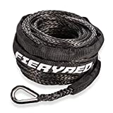 Synthetic Winch Rope 3/16' x 50' - 8200 Ibs Winch Line Cable Rope with Protective Sleeve for 4WD Off Road Vehicle ATV UTV SUV Motorcycle