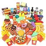 Magicfun 139 Piezas Juguetes de Comida, Alimentos Juguetes Plástico de Cocina Gran Variedad de...