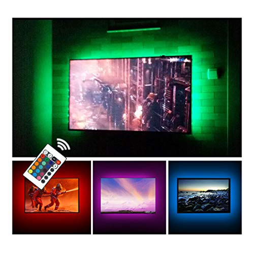 USB TV Backlight LED Strip Lights Kit for 24 to 60 inches Smart...