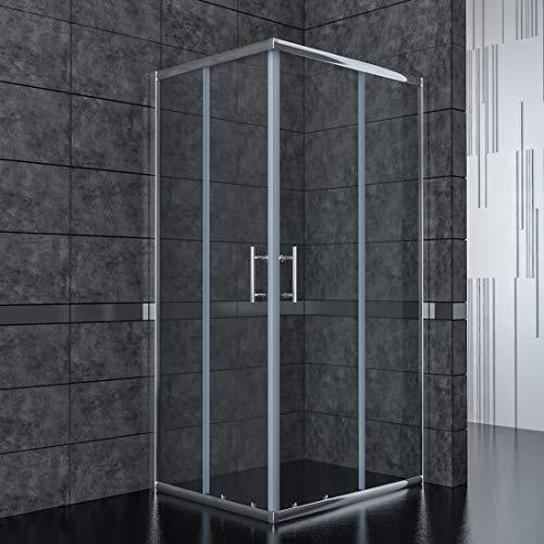 80x80cm Eckeinstieg Duschkabine Sicherheitsglas Schiebetür Eckdusche Duschabtrennung Duschschiebetür Glas