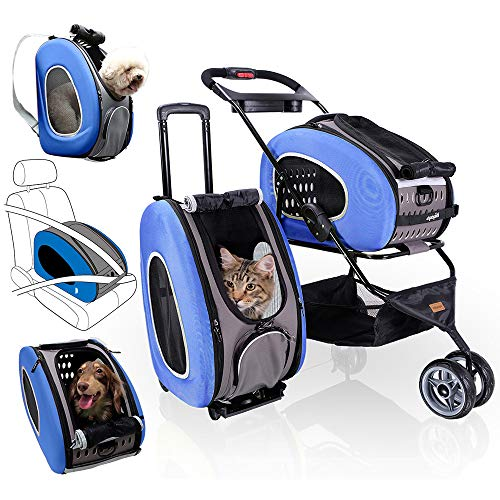 5-in-1 Pet Carrier with Backpack, Pet Carrier...