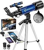 Télescope Astronomique, 70 mm Portable Réfraction Télescope avec...