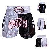 Muay Thai Boxing Kick Boxing Martial Arts Shorts Pink Black Shorts (M)
