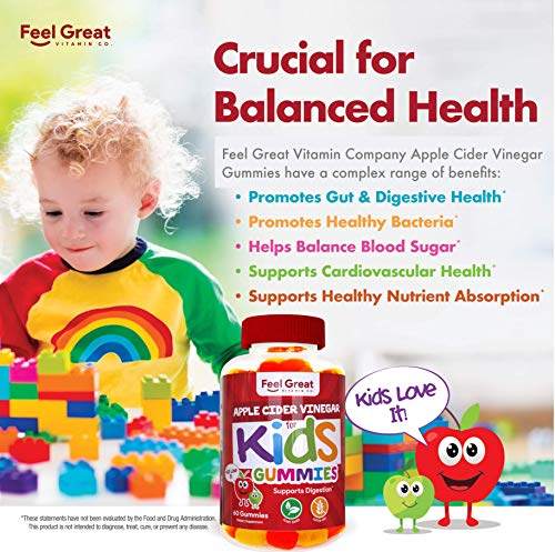 Feel Great Vitamin Co. Apple Cider Vinegar Gummies for Kids | Digestive & Immunity Support* | Healthy Gut Support for Children* | Natural Digestive Enzymes & Digestive Support for Boys and Girls 4