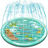 Rigoo Outdoor Sprinkler Water Toys for Kids and Toddlers 68',Kids Dinosaur Splash Pad Toys for 2 3 4 5 6 7 8 Year Old Boys and Girls
