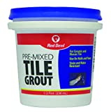 Red Devil 0422 Pre-Mixed Tile Grout, White, 12 Pack