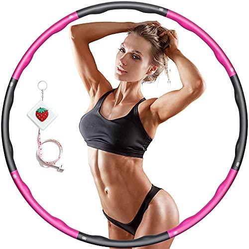 Hula Fitness Reifen Hula Fitness für Erwachsene & Kinder zur Gewichtsabnahme und Massage, Schaumstoff...