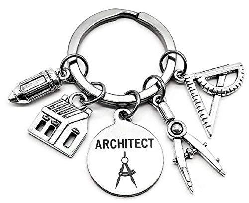 Architect Keychain, Architectural Engineer Keychain,...